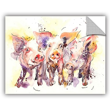 ArtWall Three Little Pigs Wall Mural; 14'' H x 18'' W x 0.1'' D