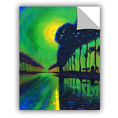ArtWall Bruges Canal At Midnight Wall Mural; 18'' H x 14'' W x 0.1'' D