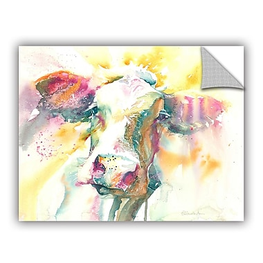 ArtWall Abstract Cow Wall Mural; 18'' H x 24'' W x 0.1'' D