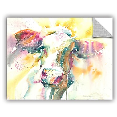 ArtWall Cow Wall Mural; 18'' H x 24'' W x 0.1'' D