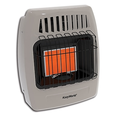 KozyWorld 12,000 BTU Wall Mounted Propane Infrared Wall Insert Heater