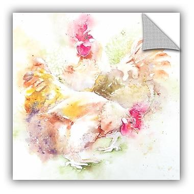 ArtWall Chickens 4 Wall Mural; 36'' H x 36'' W x 0.1'' D