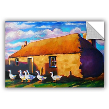 ArtWall Scottish Stone Cottage Highlands Wall Mural; 32'' H x 48'' W x 0.1'' D
