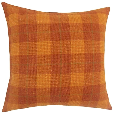 The Pillow Collection Damir Plaid Bedding Sham; Euro