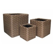 PrideGardenProducts Vimini 3-Piece Vinyl Planter Box Set; Brown
