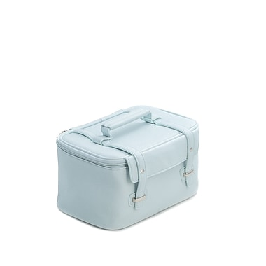 Bey-Berk Blue Leatherette Travel Makeup Case (BB264L)