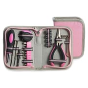 Bey-Berk 23 pc. Tool Set in Pink Canvas Case (BB407)