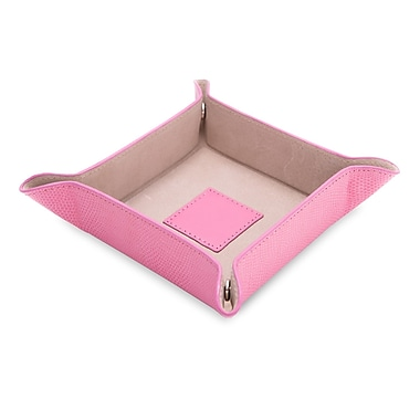 Bey-Berk Lizard Leather Snap Valet, Pink (BB500P)