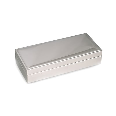 Bey-Berk Nickel Plated Hinged Box (D571)