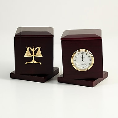 Bey-Berk Swivel Frame Box with Clock, Legal (R49L)