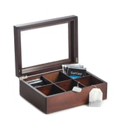 Bey-Berk Mahogany Tea Box (TT100BRW)