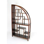 Wayborn Hangchu 72'' Accent Shelves Bookcase; Brown