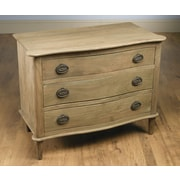 AA Importing 3 Drawer Chest; Driftwood