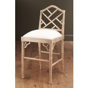 AA Importing 27'' Bar Stool; Pickled