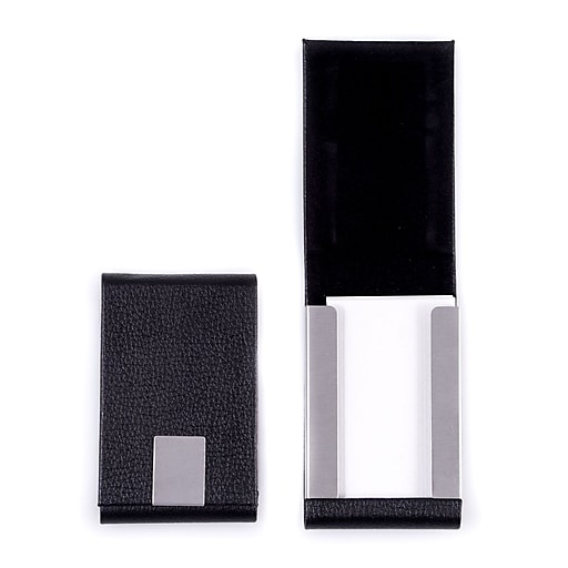 Bey berk black leather business card case d255b staples httpsstaples 3ps7is colourmoves