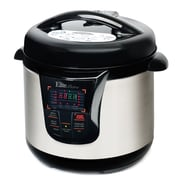 Elite by Maxi-Matic Bistro 8-Quart Electric Stainless Steel Pressure Cooker; Black