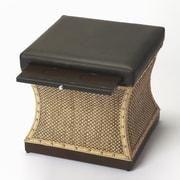 Butler Cosmopolitan Leather Mathilda Raffia Ottoman