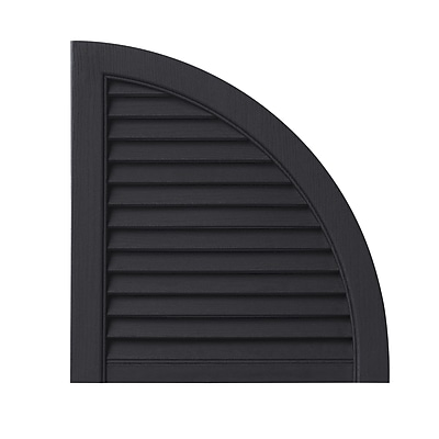PlyGem Open Louvered Arch Top (Set of 2); Black WYF078278530817