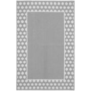 Garland Rug Polka Dot Frame Silver/White Area Rug; 2'6'' x 3'10''