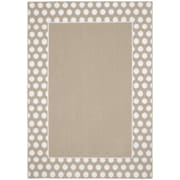 Garland Rug Polka Dot Frame Tan/White Area Rug; 2'6'' x 3'10''