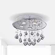 JoJoSpring Floating Bubble 5-Light Flush Mount