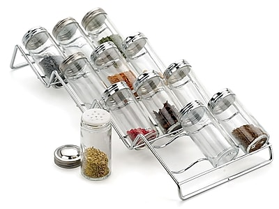 RSVP-INTL 12 Jar Spice Jar & Rack