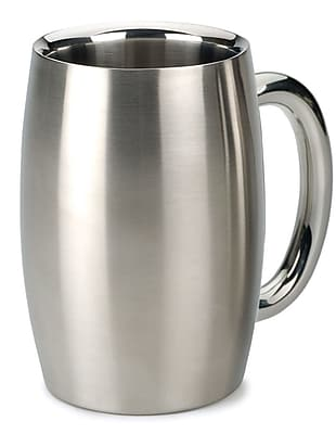 RSVP-INTL Endurance Beer Mug 15 oz. Stainless Steel
