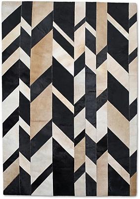 Modern Rugs Beige/Black Area Rug; Rectangle 8' x 10'