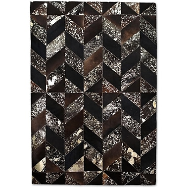 Modern Rugs Brown/Gold Area Rug; Rectangle 8' x 10'