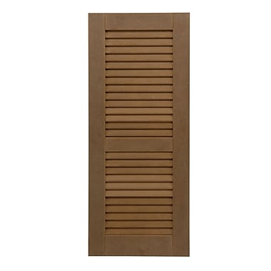 Shutters By Design Rockbridge Offset 60-40 Louvered Shuttered (Set of 2); 25'' H x 12'' W