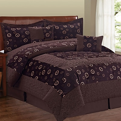Serenta Peace Sign 6 Piece Comforter Set; Queen