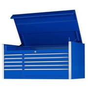 Extreme Tools 55''W 10-Drawer Professional Top Chest; Blue