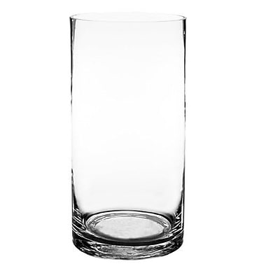 CYSExcel Glass Hand Blown Cylinder Vase (Set of 4); 12'' H x 6'' W x 6'' D