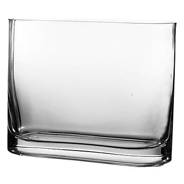 CYSExcel Rectangular Vase (Set of 6); 7.5'' H x 9.75'' W x 2.75'' D