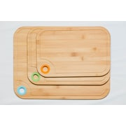 Culinary Edge 3 Piece Bamboo Cutting Board Set w/ Silicone Ring