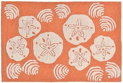 Liora Manne Frontporch Hand-Tufted Orange Indoor/Outdoor Area Rug; 3'6'' x 5'6''