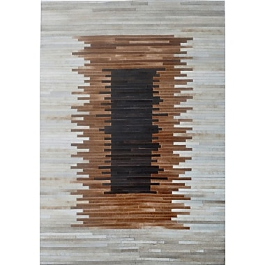 Modern Rugs Brown/Beige Area Rug; Rectangle 9' x 12'