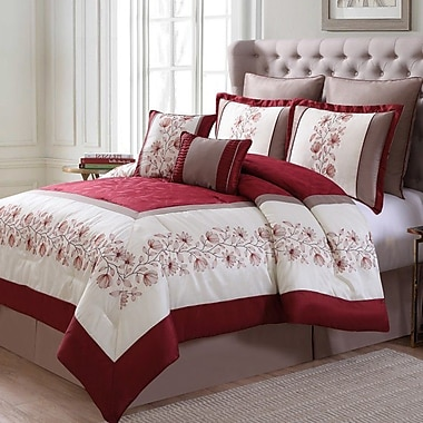 Luxury Home Alexander 8 Piece Comforter Set; Queen