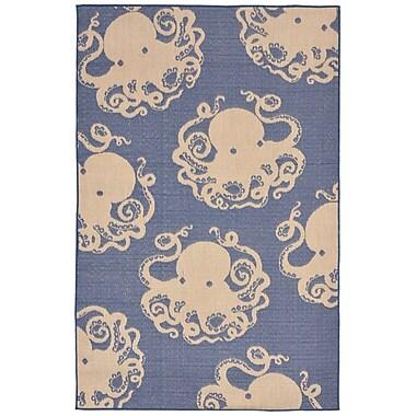 Liora Manne Terrace Blue Indoor/Outdoor Area Rug; 7'10'' x 9'10''