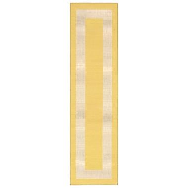 Liora Manne Terrace Yellow Indoor/Outdoor Area Rug; Runner 1'11'' x 7'6''