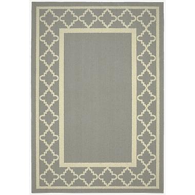Garland Rug Moroccan Frame Silver/Ivory Area Rug; 2'6'' x 3'10''