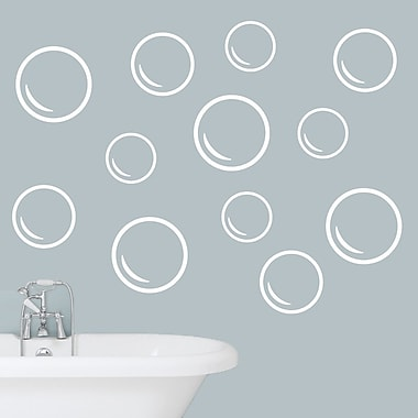 SweetumsWallDecals Bubble Wall Decal; White