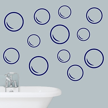 SweetumsWallDecals Bubble Wall Decal; Navy