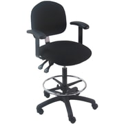 Bench Pro Tall Industrial Mid-Back Drafting Chair; Fabric