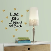 Room Mates Love You to the Moon Quote Peel and Stick Wall Decal