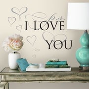 Room Mates P.S. I Love You Peel and Stick Wall Decal