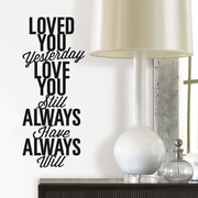 Room Mates Love You Always Peel and Stick Wall Decal