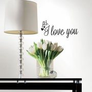 Room Mates P.S. I Love You w/ Heart Peel and Stick Wall Decal
