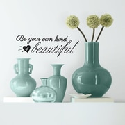 Room Mates Be Your Own Kind of Beautiful Peel and Stick Wall Decal
