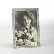Saro Silver Jeweled Picture Frame; 6'' H x 4'' W
